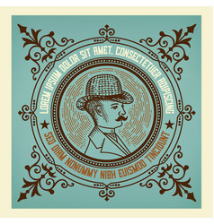 gentleman vintage label vector image