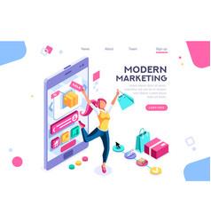 Graphic consumerism concept vector