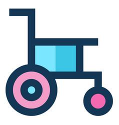 Handicap medical icon filled line blue pink color vector