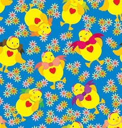 Happy Chick Pattern vector image