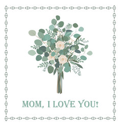 Happy mothers day beautiful card with floral vector