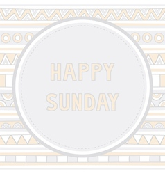 Happy Sunday background1 vector image