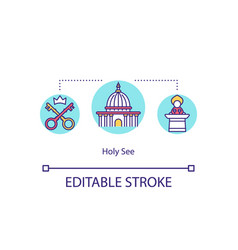 Holy see concept icon vector