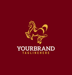 horse logo stable farmvalleycompany race logo vector image