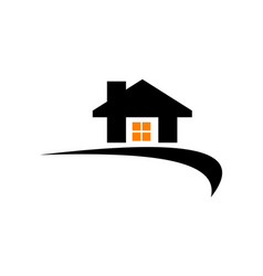 house nomad logo design template vector image