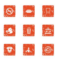 Imagination icons set grunge style vector