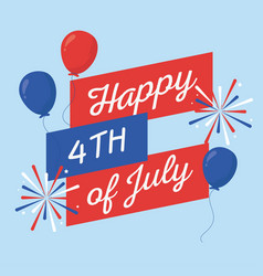 Independence day balloons design vector
