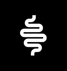 Intestines glyph icon or digestion system symbol vector