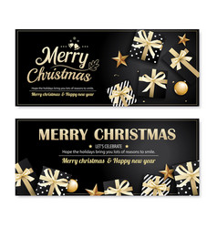 Invitation merry christmas poster banner and card vector
