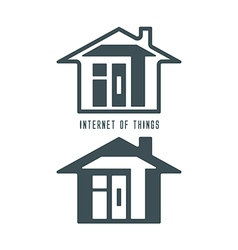 IOT house symbol vector image