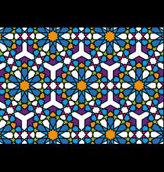 Islamic mosaic pattern graphic print arabic art vector