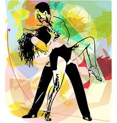 Latino Dancing couple vector image