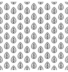 leaves pattern line style for decoration vector image
