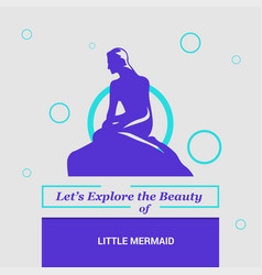lets explore the beauty of little mermaid vector image