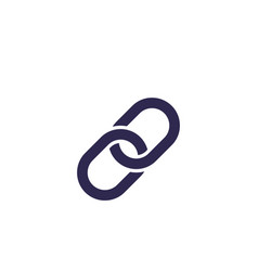 Link chain icon vector