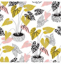 minimal floral pattern in scandinavian vector image