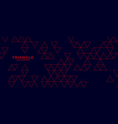 modern dark background with red triangle pattern vector image