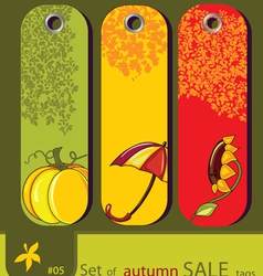 nature autumn tags vector image