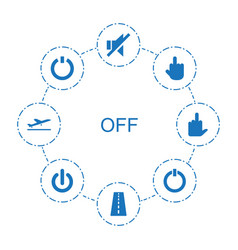 Off icons vector
