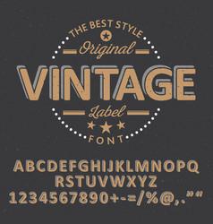 original vintage font poster vector image