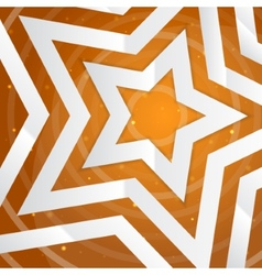 Paper star on the yellow power background f vector image