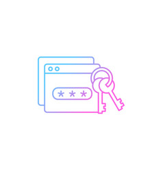 password management gradient linear icon vector image