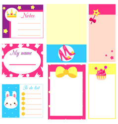 planner template fir girls to do lists blanks vector image