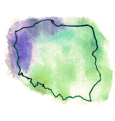 Poland watercolor map vector image