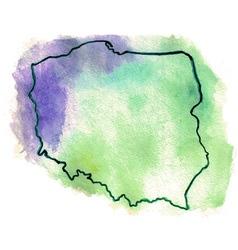 Poland watercolor map vector