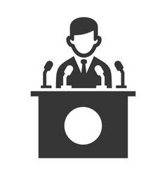 public speaker icon on white background vector image