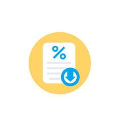 Rate cut icon percent down vector
