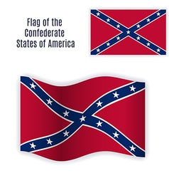 Rebel flag still and waving vector