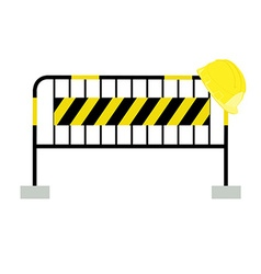 Road barrier and building helmet vector