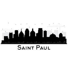 saint paul minnesota city skyline silhouette with vector image