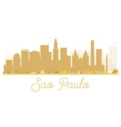 Sao Paulo City skyline golden silhouette vector