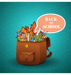 School briefcase vector image