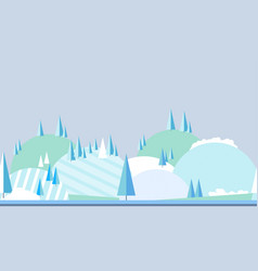 seamless horizontal winter landscape landscape in vector image