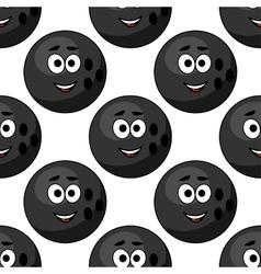 seamless pattern cartoon bowling balls vector image