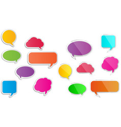 Set comic style speech bubbles vector