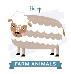 Sheep isolated vector
