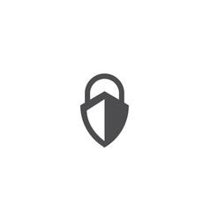 shield security lock logo vector image