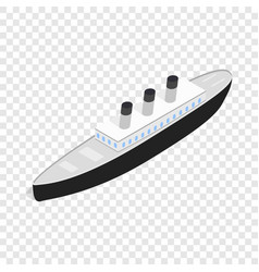 ship isometric icon vector image
