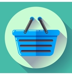 shopping basket icon Flat design style vector image