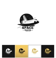 Shuttle logo or space travel icon vector