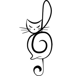 Silhouette of a cat vector image vector image