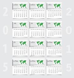 Simple 2015 year calendar vector image