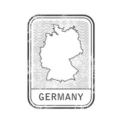 Stamp with contour of map of germany vector