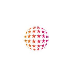 star globe logo icon design vector image