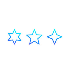 star icons line vector image