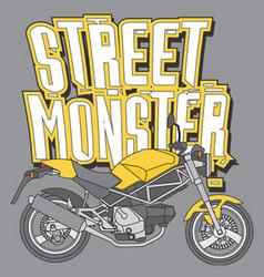 Street monster vector